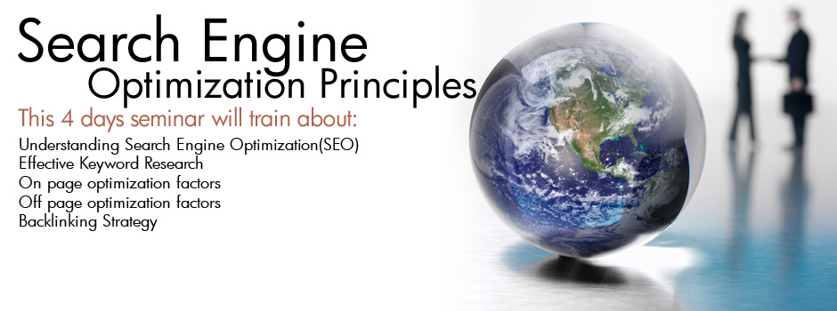 4 Days Search Engine Optimization Principles Seminar