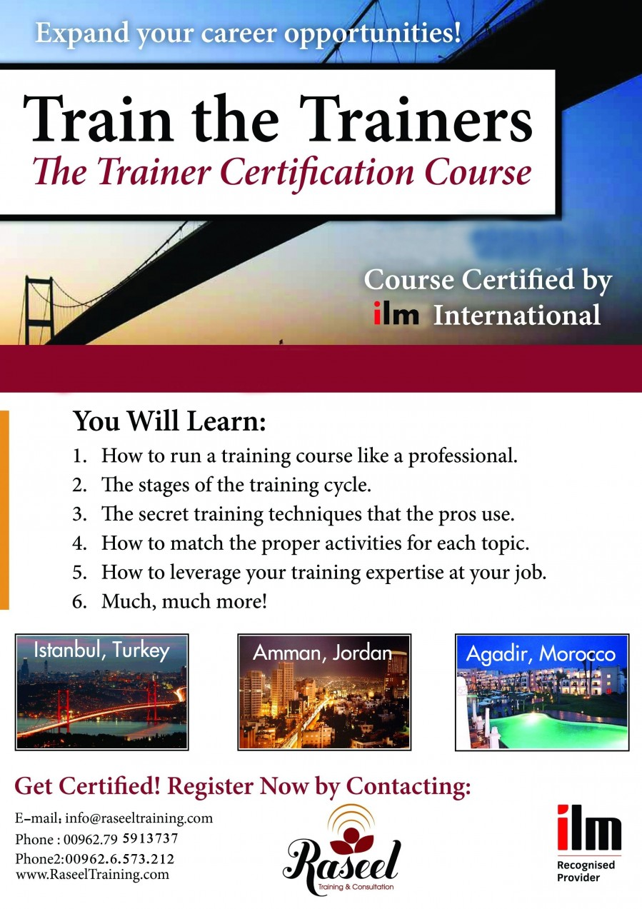 Train the Trainers with ILM